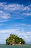Isla de pájaros, parque nacional del Los Haitises Fotos de archivo
