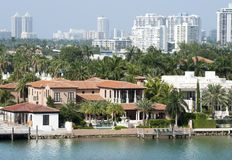 Isla de palma y Miami Beach Imagen de archivo
