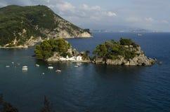 Isla de Panagia Foto de archivo libre de regalías