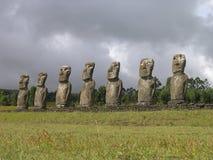 Isla de pascua - Ahu Akivi Imagen de archivo
