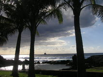 Isla de pascua - Ahu Tahai Imagenes de archivo