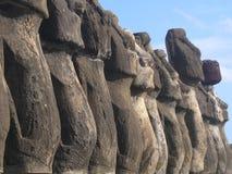 Isla de pascua - Ahu Tongariki Imagen de archivo libre de regalías