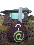 Isla de pascua. Café del Internet Fotos de archivo libres de regalías