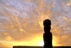 Isla de pascua de la estatua de Moai Foto de archivo