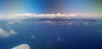 Isla de pascua de un avión Fotografía de archivo
