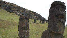 Isla de pascua Moai Imagenes de archivo
