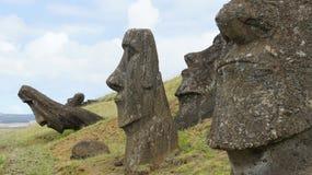 Isla de pascua Moai Imágenes de archivo libres de regalías