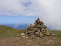 Isla de pascua - montaje Terevaka Fotos de archivo