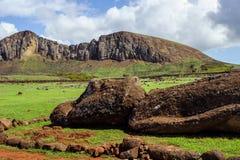 Isla de Pascua Rapa Nui Isola di pasqua Threesome Immagine Stock Libera da Diritti