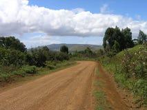 Isla de pascua - ruta a los Kau de Rano Foto de archivo libre de regalías