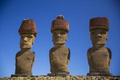 Isla de pascua Threesome Imagen de archivo libre de regalías