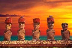 Isla de pascua Threesome Fotografía de archivo libre de regalías