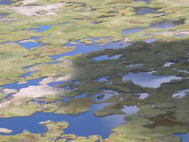 Isla de pascua - volcán de los Kau de Rano Imagen de archivo