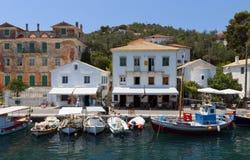 Isla de Paxos en Grecia Imagen de archivo