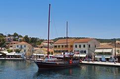 Isla de Paxos en Grecia Fotos de archivo libres de regalías