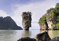 Isla de Phang Nga - de James Bond Fotografía de archivo