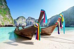 Isla de Phi Phi Leh de la bahía del maya, Tailandia Imágenes de archivo libres de regalías