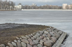 Isla de piedra en St Petersburg Imágenes de archivo libres de regalías