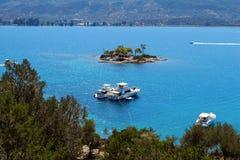 Isla de Poros, Grecia Imagen de archivo
