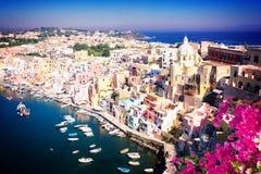 Isla de Procida, Italia Fotos de archivo