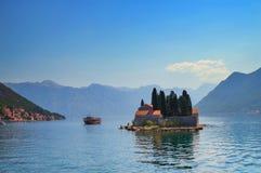 Isla de San Jorge en Montenegro Imagen de archivo libre de regalías