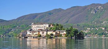 Isla de San Julio, lago Orta, Italia Fotografía de archivo libre de regalías