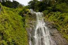 Isla de San Ramón-Ometepe de la cascada Fotografía de archivo libre de regalías