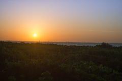 Isla de Sanibel de la salida del sol Foto de archivo libre de regalías