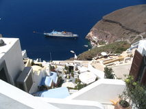 Isla de Santorini Imágenes de archivo libres de regalías
