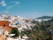 Isla de Santorini en Grecia Imagenes de archivo