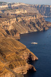 Isla de Santorini, Thira, islas de Cícladas - paisaje Fotografía de archivo