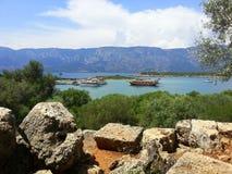 Isla de Sedir Mar Egeo Turquía Foto de archivo