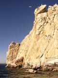 Isla de Sharga-Dagan en el lago Baikal Fotografía de archivo