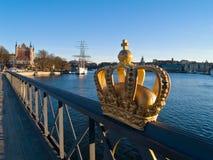 Isla de Skeppsholmen, Estocolmo Fotos de archivo libres de regalías
