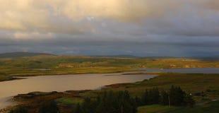 Isla de Skye, montañas Escocia Fotografía de archivo