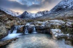 Isla de Skye, piscinas de hadas Foto de archivo