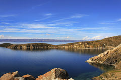 Isla de Sol玻利维亚 免版税库存图片
