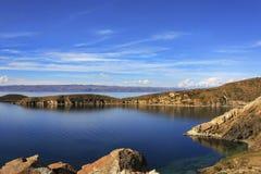 Isla de Sol Bolivia immagini stock libere da diritti