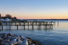 Isla de Solomons, Maryland foto de archivo libre de regalías