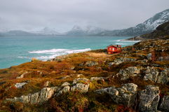 Isla de Sommarøy, Noruega Imagen de archivo libre de regalías