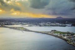 Isla de SONGSAN ILCHULBONG Jeju, Corea del Sur Imágenes de archivo libres de regalías