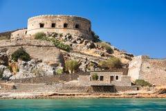 Isla de Spinalonga crete Grecia fotografía de archivo libre de regalías