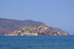 Isla de Spinalonga en Crete fotografía de archivo libre de regalías