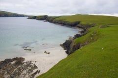 Isla de St.Ninian, Shetland fotos de archivo