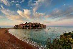 Isla de St Stefan montenegro Fotos de archivo libres de regalías