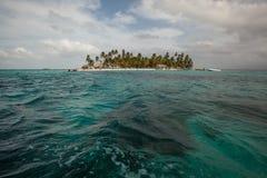 Isla de Sunblas en Panamá fotografía de archivo