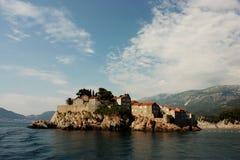 Isla de Sveti Stefan Imagen de archivo