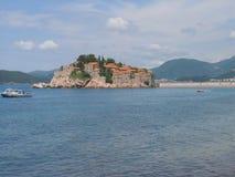 Isla de Sveti Stefan Foto de archivo libre de regalías
