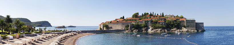 Isla de Sveti Stefan en Montenegro imagen de archivo libre de regalías