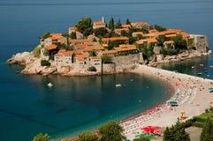 Isla de Sveti Stefan/isla de Stefan del santo Imagen de archivo libre de regalías